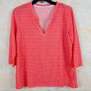 Tribal Jeans Striped 3/4 Sleeve Knit Top Shirt 13